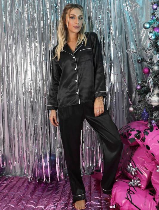 Pijama de Satin black 1