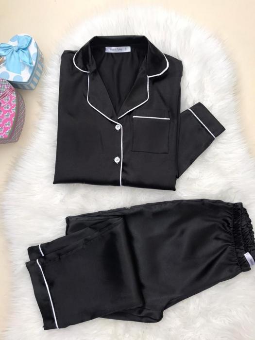 Pijama de Satin black 0