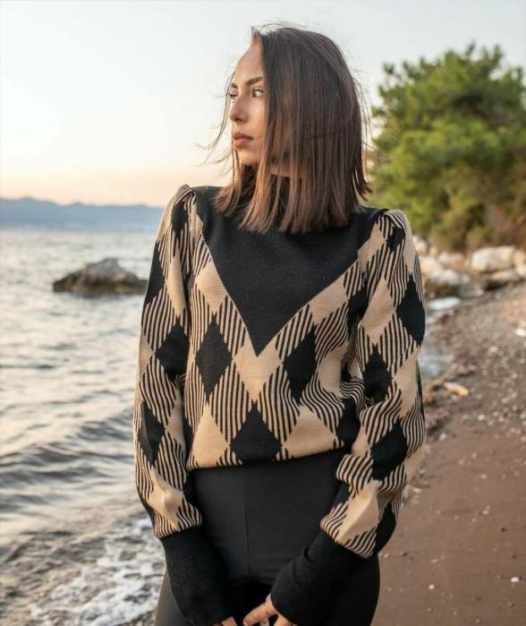 Pulover Berta negru/maro [0]