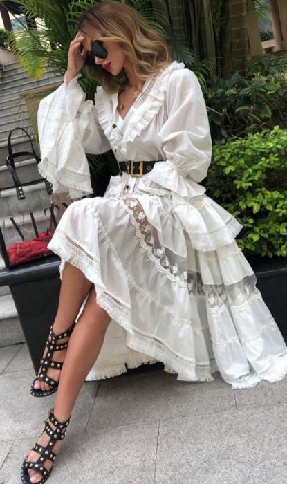 Rochie Alba Lunga Sofia [0]
