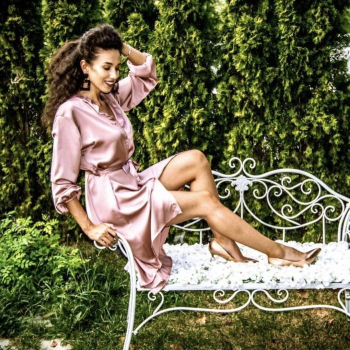 Rochie Maya roz 0
