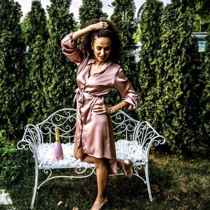 Rochie Maya roz 1