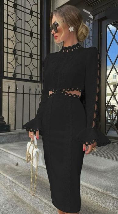 Rochie Midi Charlotte Black [0]