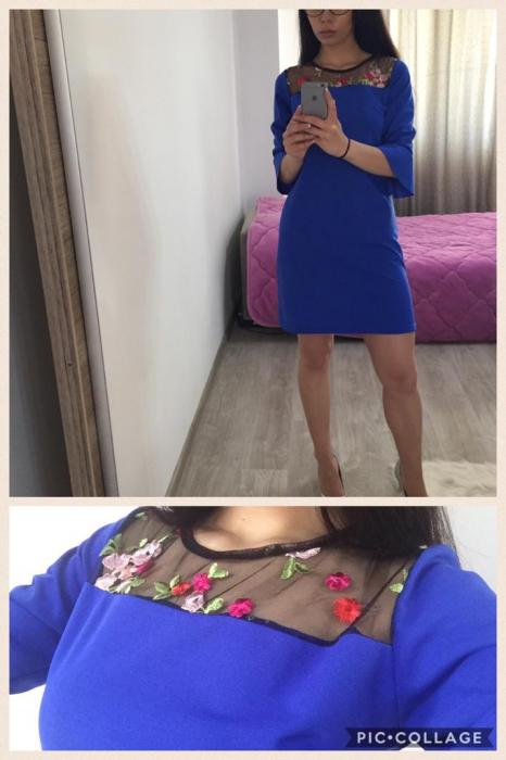 Rochie Mini Ezaura Albastra 0