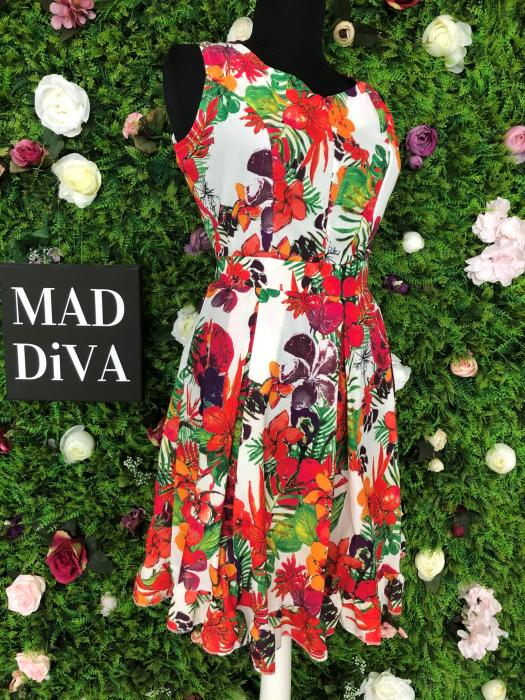 Rochie mini cu imprimeu floral 1