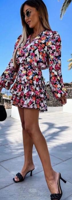 Rochie Mini cu Imprimeu Floral Elif 1