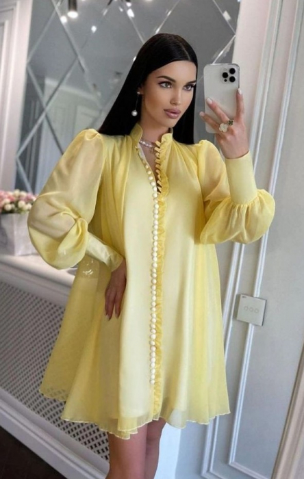 Rochie Mini Yellow Hazel [0]