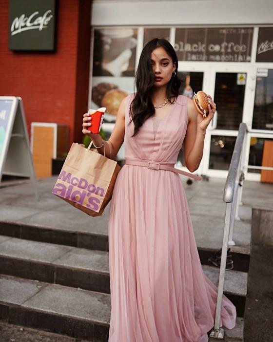 Rochie Miss roz pudra 1