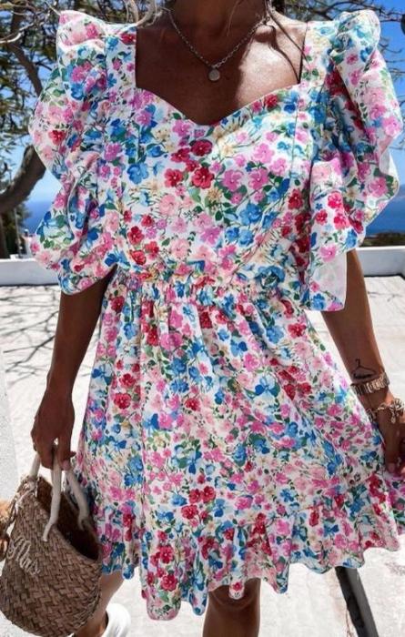 Rochie Ozana cu Imprimeu Multicolor [0]