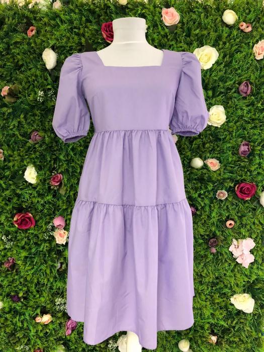 Rochie Purple cu fundite la spate 2