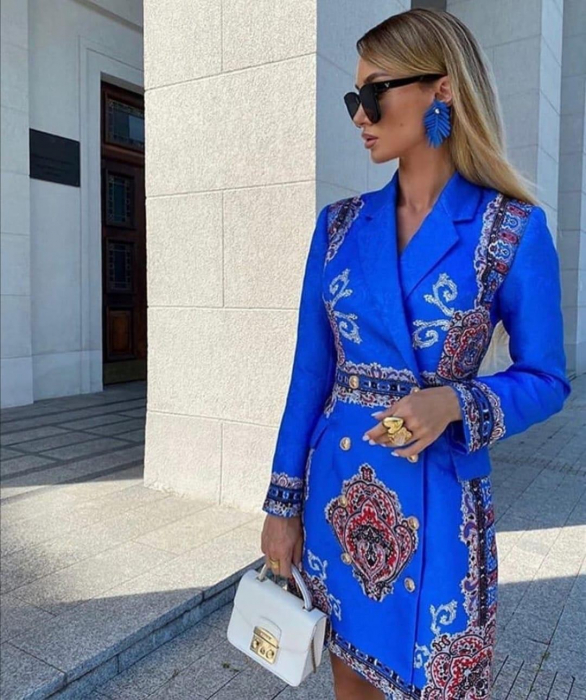 Rochie-Sacou Dayana Blue 0