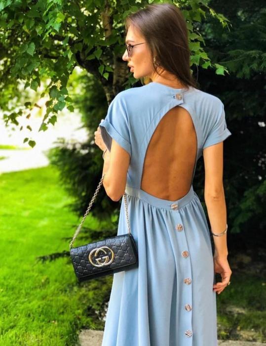 Rochie Sexy Back Blue 0