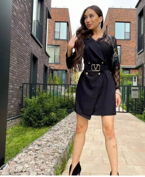Rochie Tip Sacou Black Catlin [2]