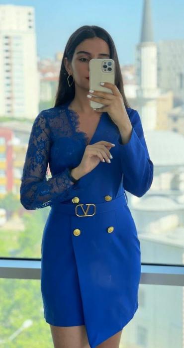 Rochie Tip Sacou Indigo Blue Catlin [0]
