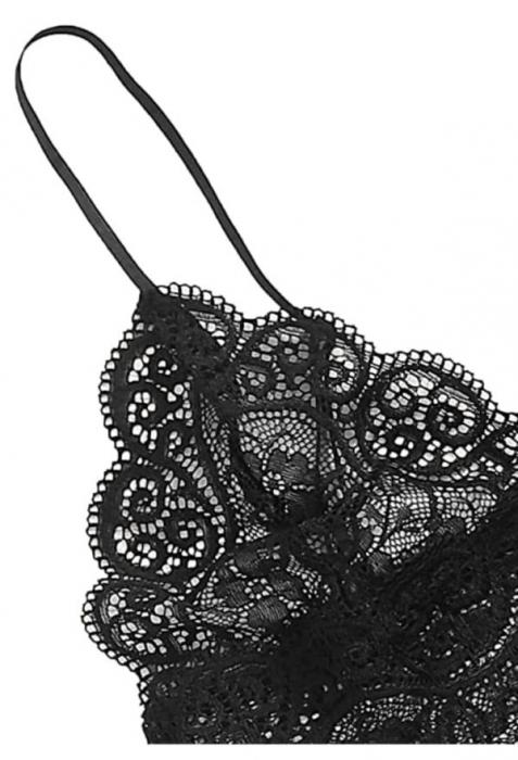 Set Pijama de Dama 3 Piese Negru [1]