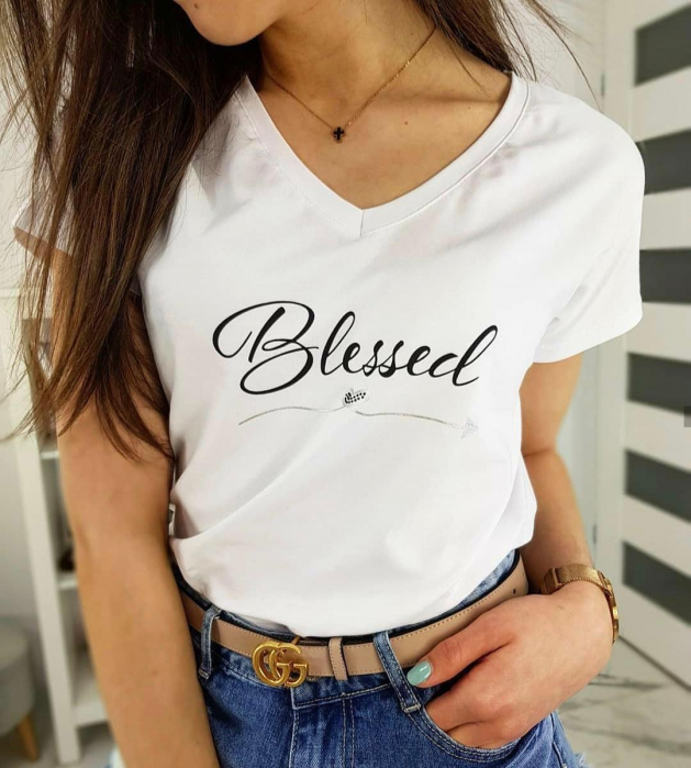 Tricou Bumbac Blessed 0