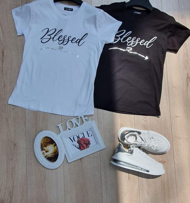 Tricou Bumbac Blessed 1