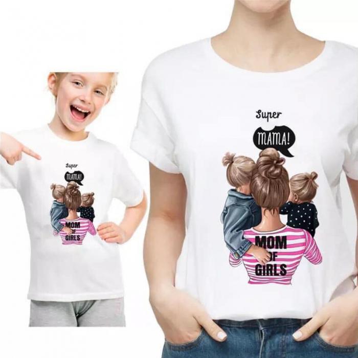 Tricou Bumbac Copii  Mom of girls 0