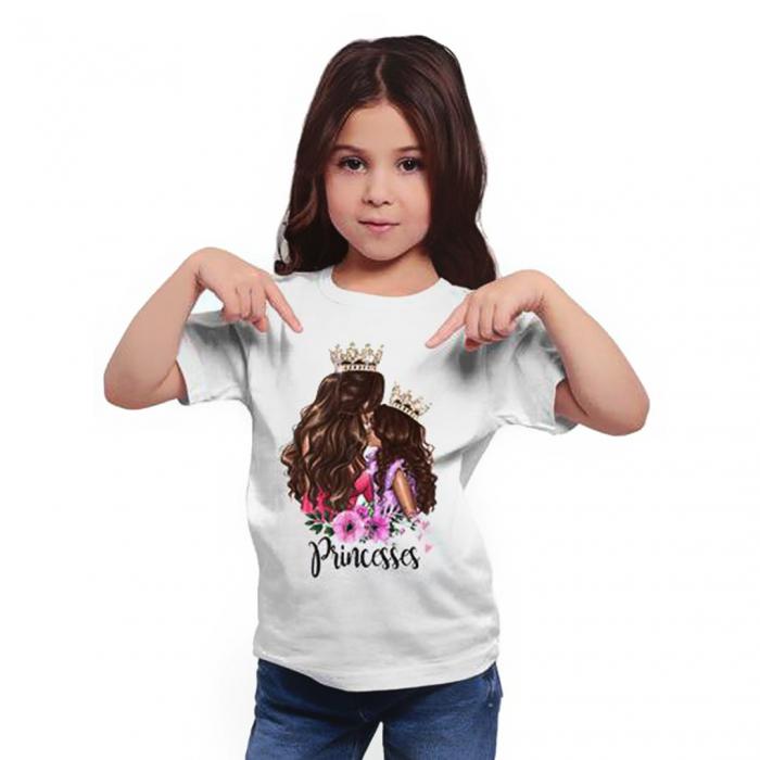 Tricou copii alb  Princesses 0
