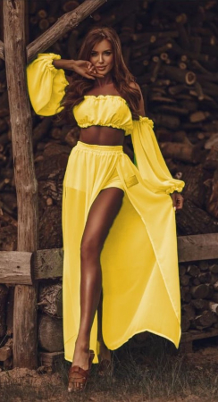 Set Fusta + Top Alegria Yellow [0]