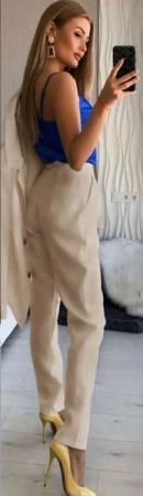 Compleu Pantaloni + Sacou Bej Noella [1]