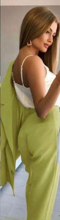Compleu Pantaloni + Sacou Verde Noella [2]