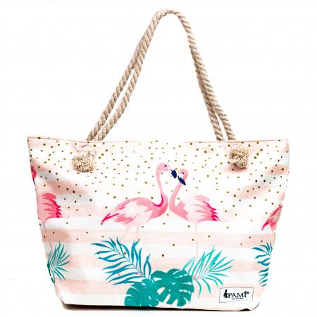 Geanta de Plaja Pink Flamingo [1]