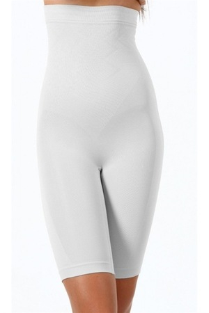 Pantalon Modelator din Bumbac, Alb [0]