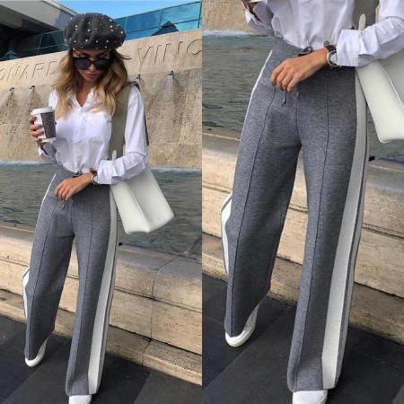 Pantaloni Selma Gri1
