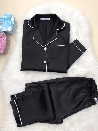 Pijama de Satin black0