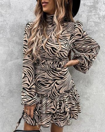 Rochie Aura Black&Gold0