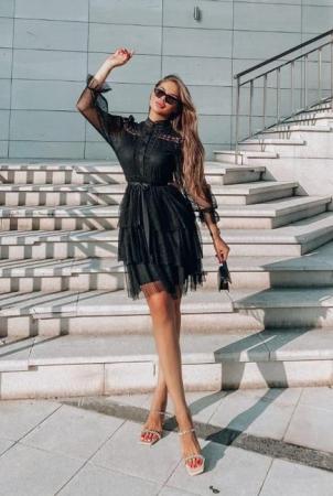 Rochie Neagra din Dantela Ruby [3]
