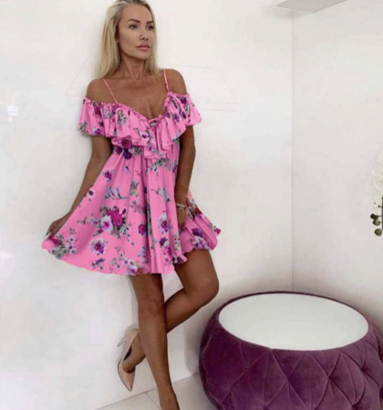 Rochie Butterfly Pink0