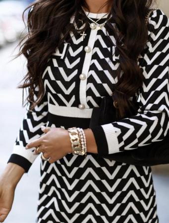 Rochie Lena Black & White [0]