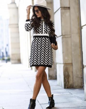 Rochie Lena Black & White [1]