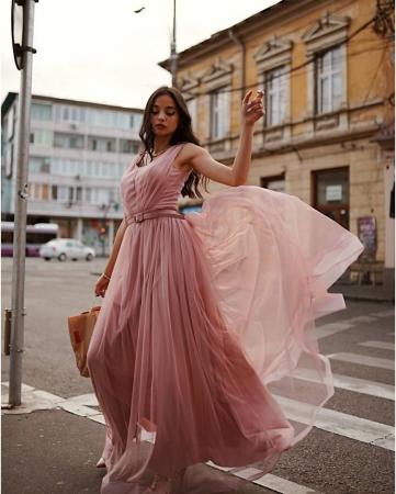 Rochie Miss roz pudra2