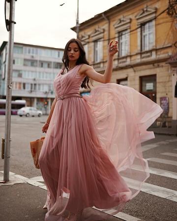Rochie Miss roz pudra0