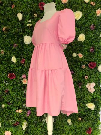 Rochie Pink cu fundite la spate3