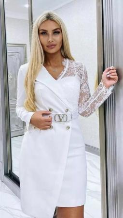 Rochie Tip Sacou White Catlin [1]