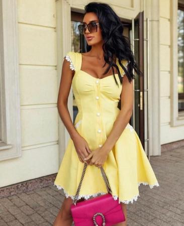 Rochie Yellow SunShine1