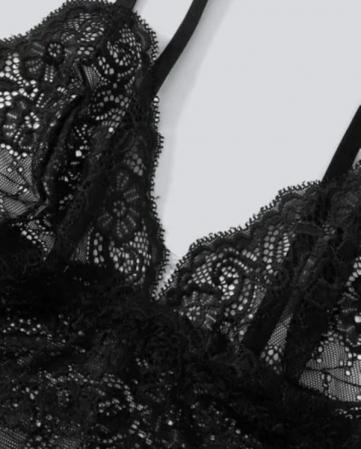 Set Pijama de Dama 3 Piese Negru [2]