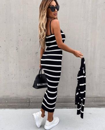 Set rochie + pulover Sara Black4