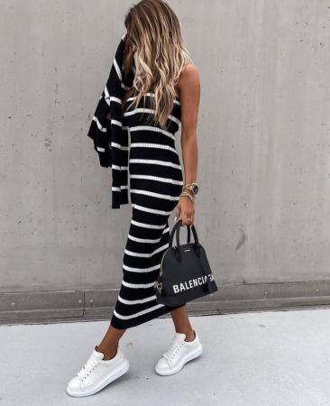 Set rochie + pulover Sara Black2