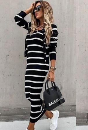 Set rochie + pulover Sara Black0
