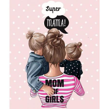 Tricou Bumbac Copii  Mom of girls1