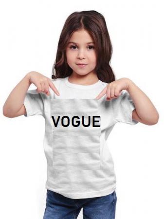 Tricou copii alb Vogue [0]
