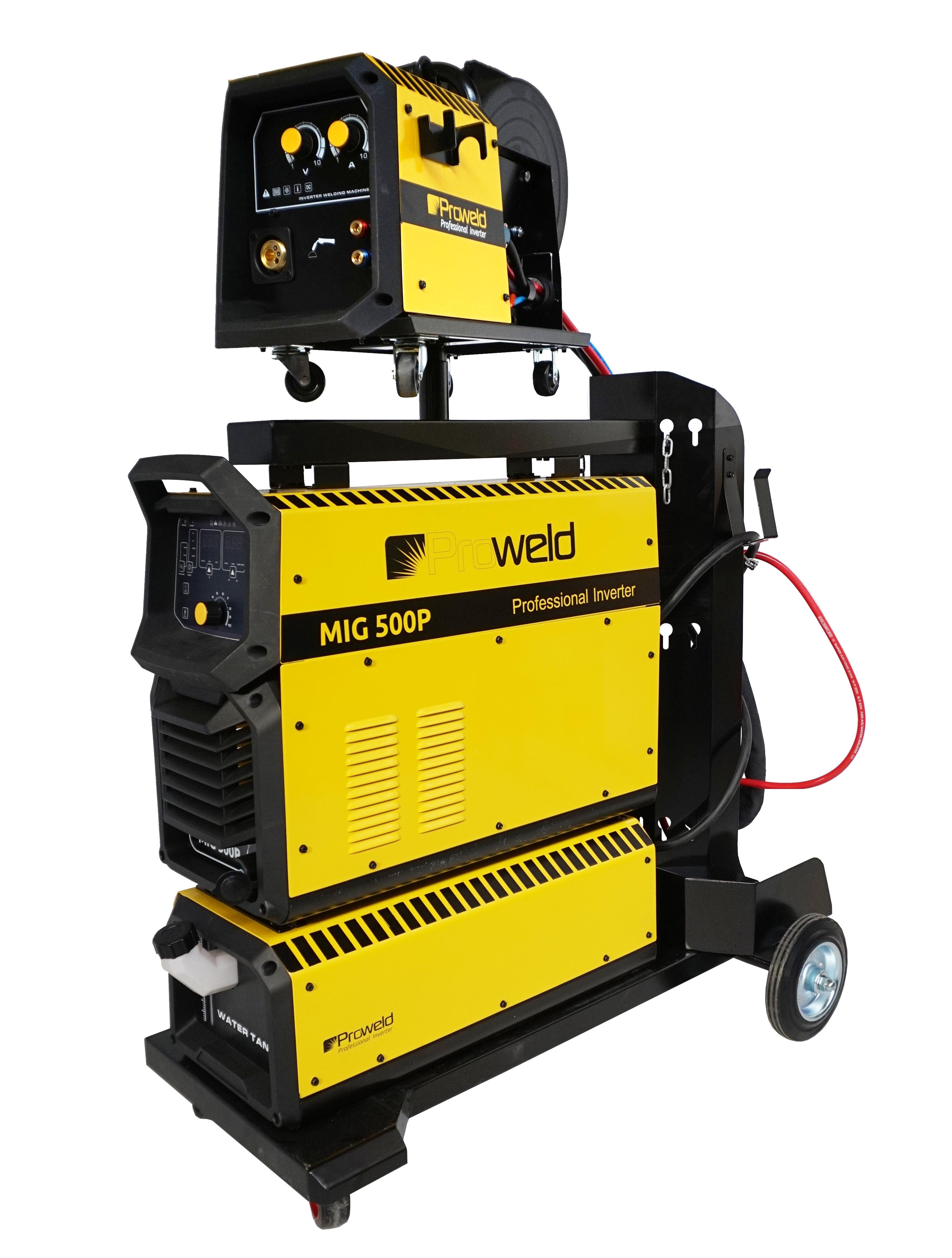 ProWELD MIG 500P invertor sudare MIG/MAG profesional, racire cu lichid, derulator detasabil, sudura aluminiu 0