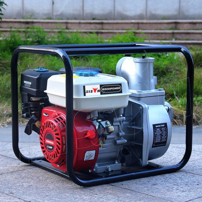 Motopompa Bison  BSWP30,  apa curata, 3'' intrare-iesire, motor pe benzina 4T, debit maxim 56m³/h, 8m adancime maxima, 30m inaltime refulare 0