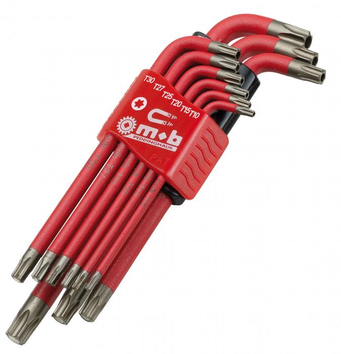 Set 9 chei pentru locas Torx (cu magnet) si Tamper Torx Mob&Ius [0]