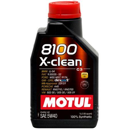Ulei motor Motul 8100 X-clean, 5W40, 1L 0